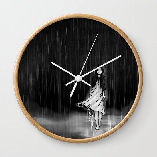 ... as the rain fell on me Wall Clock