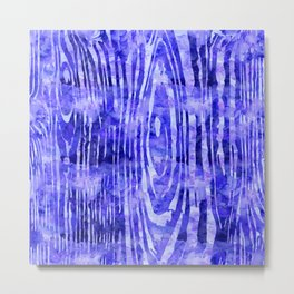 Purple Wood Print Metal Print
