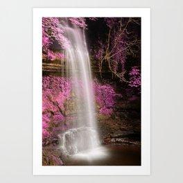 Pink Glencar Falls Art Print