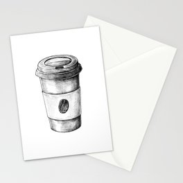 Coffee To Go Hand Drawn Stationery Cards