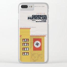 Una giornata particolare, alternative movie poster, Marcello Mastroianni, Sophia Loren, italian film Clear iPhone Case