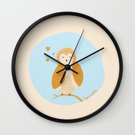 Cute little owl! ♡ Wall Clock