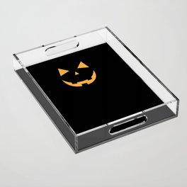 Minimal Jack o'lantern Acrylic Tray