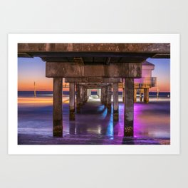 Set the Controls for the Heart of the Pier Art Print