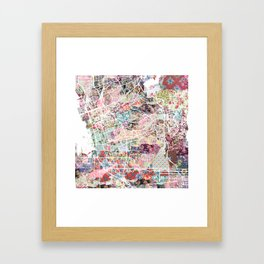 Chula Vista map Framed Art Print