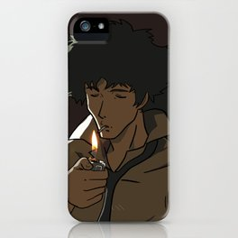Spike lighting his cigarette iPhone Case