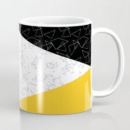 Black yellow white flap Coffee Mug