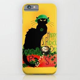 St Patrick's Day - Le Chat Noir iPhone Case