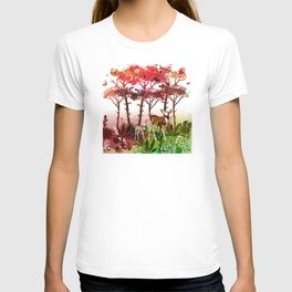 Deer Forest Watercolor Design T-shirt
