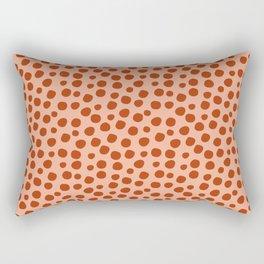 Irregular Small Polka Dots terracota Rectangular Pillow