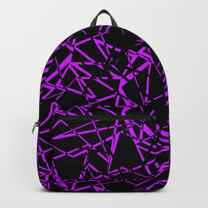 Abstract black and purple pattern .Line . Backpack