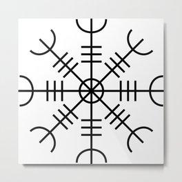 Aegishjalmur - Helm Of Awe Nordic Viking Symbol Metal Print