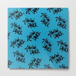 Black and Blue Throwback Metal Print