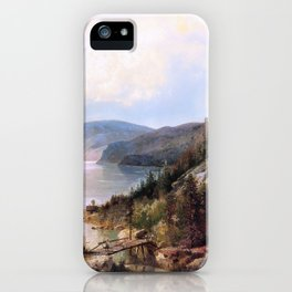 The old bridge - Hermann Ottomar Herzog iPhone Case