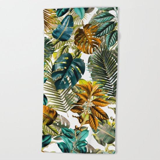 Tropical Garden IV Beach Towel