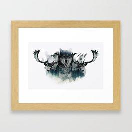 Faded Wildlife Framed Art Print
