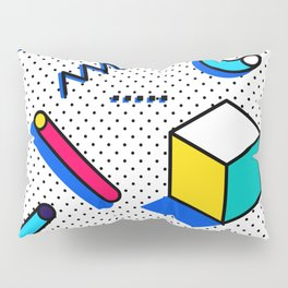 Patern in memphis, pop art style Pillow Sham
