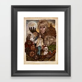 Labyrinth Tribute Framed Art Print