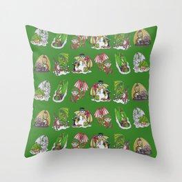 Christmas Pattern-Green Throw Pillow