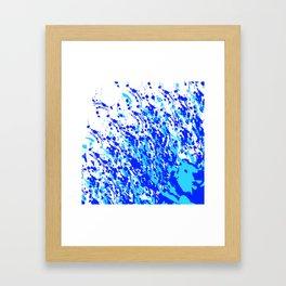 Splash and Drip Art Blue Framed Art Print
