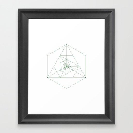 #243 Antenna – Geometry Daily Framed Art Print