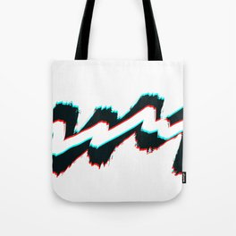 Zig zag black and white pahagh Tote Bag