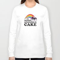 asexual Long Sleeve T-shirts featuring My Sexual Orientation Is Cake Asexual Pride by TheRandom
