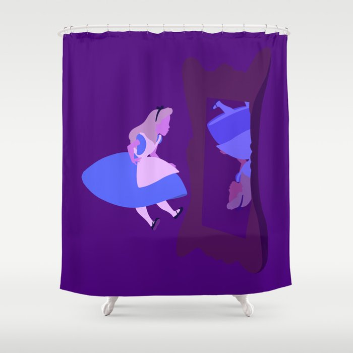 Alice Mirror Shower Curtain