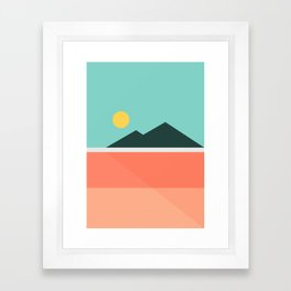 Geometric Landscape 16 Framed Art Print