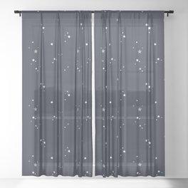 Starry Night Sky Sheer Curtain