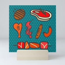 Super Fun Meat Barbecue Mini Art Print