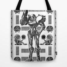 Metroid - Samus Aran Line Art Vector Character Poster Tote Bag