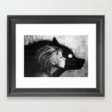 Insider BW Framed Art Print