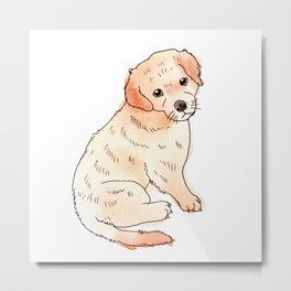 Copper Puppy Metal Print
