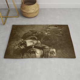 Cars in the jungle Rug