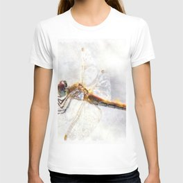 Platinum White Dragonfly Watercolor T-shirt