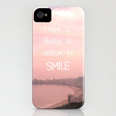 There is always a reason to smile iPhone (4, 4s) Slim Case