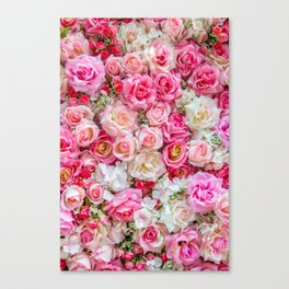 Pink & Red Roses Canvas Print