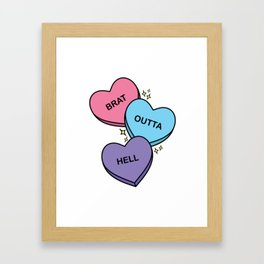 Brat Outta Hell! Framed Art Print