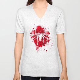 The Spider (red ink version) Unisex V-Neck