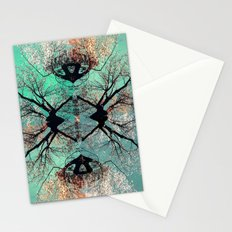 autumn tree-vessel pattern Stationery Cards