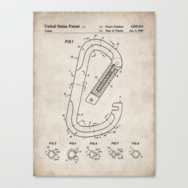 Rock Climbing Patent - Climber Art - Antique Canvas Print