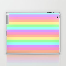 Pastel Rainbow Stripes Laptop & iPad Skin