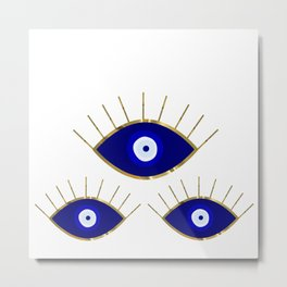 All Evil Eyes on You Metal Print