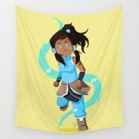 korra Wall Tapestries featuring Little Warriors: Korra by Inu Store