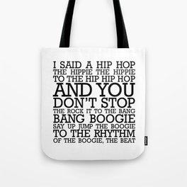 HIP HOP BOGGIE WHITE Tote Bag