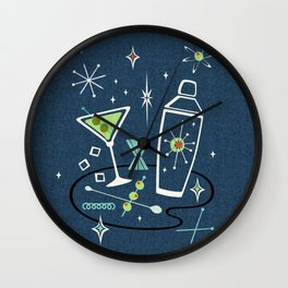 Martini Happy Hour ©studioxtine Wall Clock