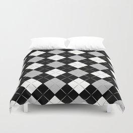 Checkered background Duvet Cover