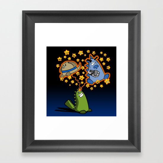 Candy the Magic Dinosaur Framed Art Print