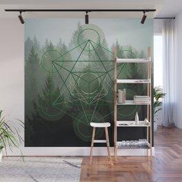 Pine Tree Sacred Geometry Wall Mural